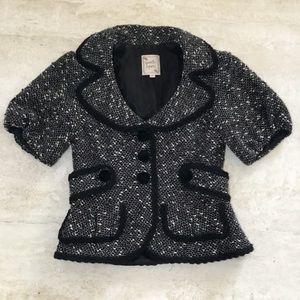 Nanette Lepore Boucle Tweed Wool Blazer - Size XS